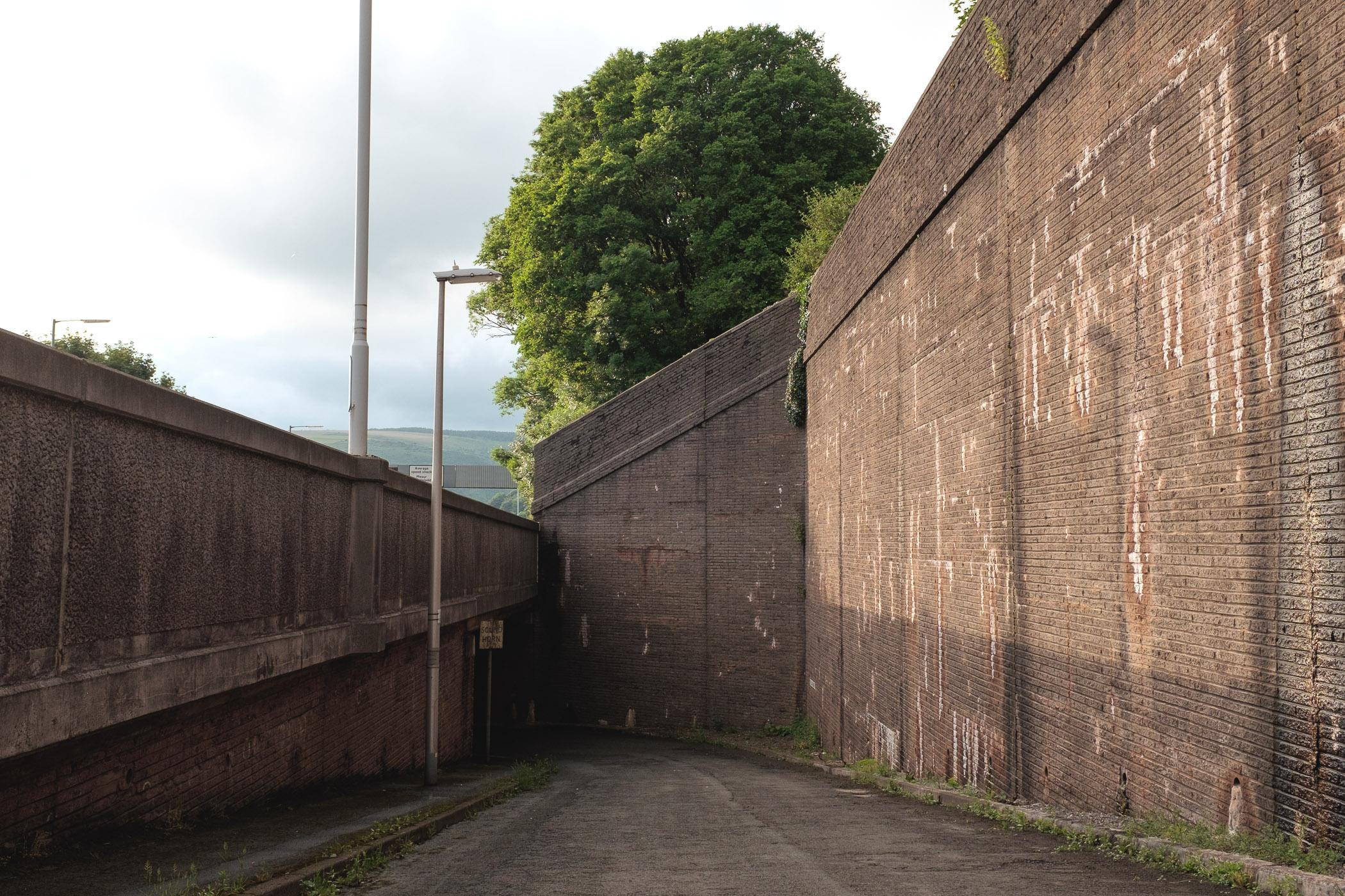 Inkerman Row, the site of a former barracks near Taibach, Port Talbot, Wales.