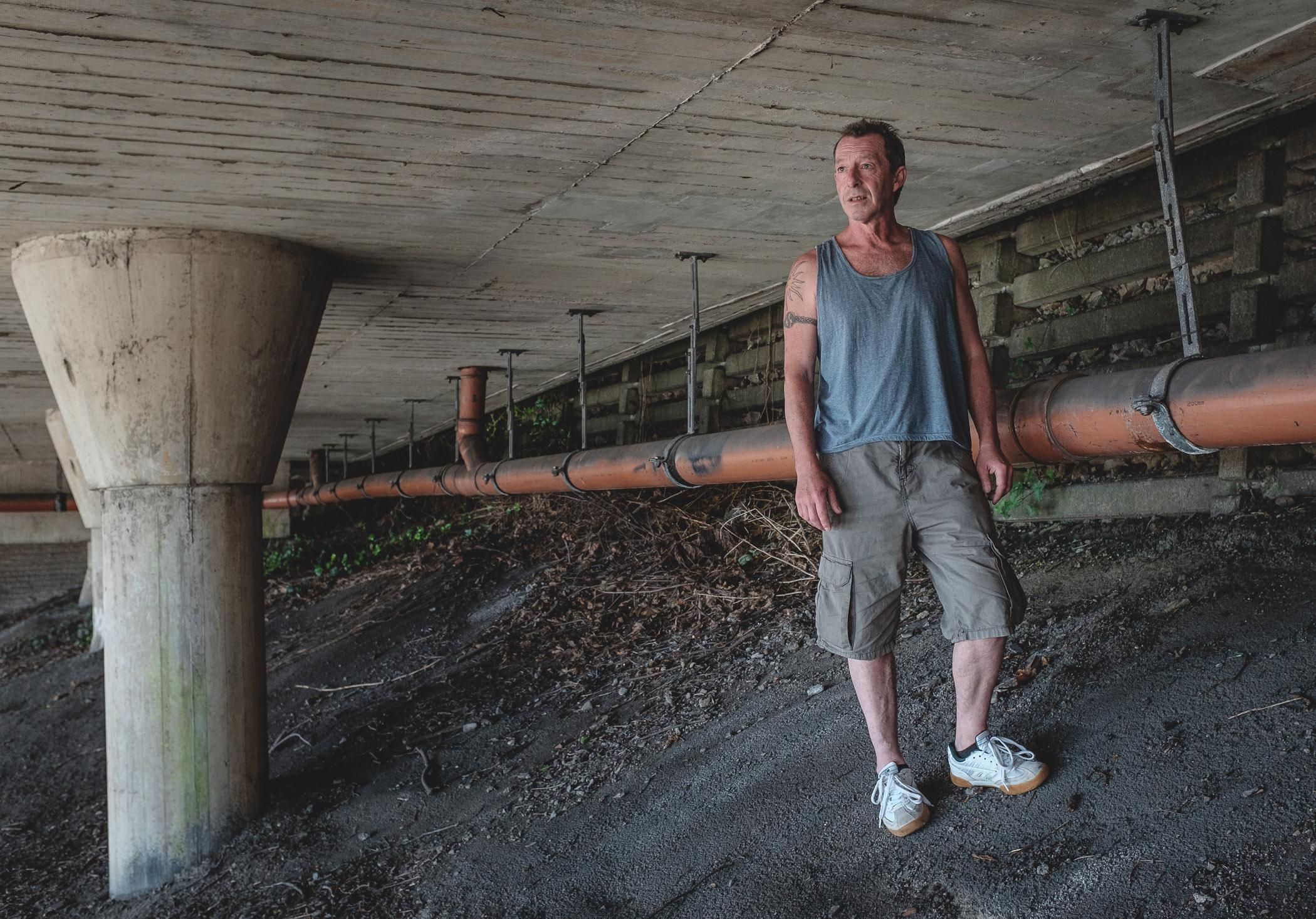 James Clark was part of the skateboard and punk scene in the 1970s, and remembers when the underside of the motorway was a popular hangout and concert venue for other punks.