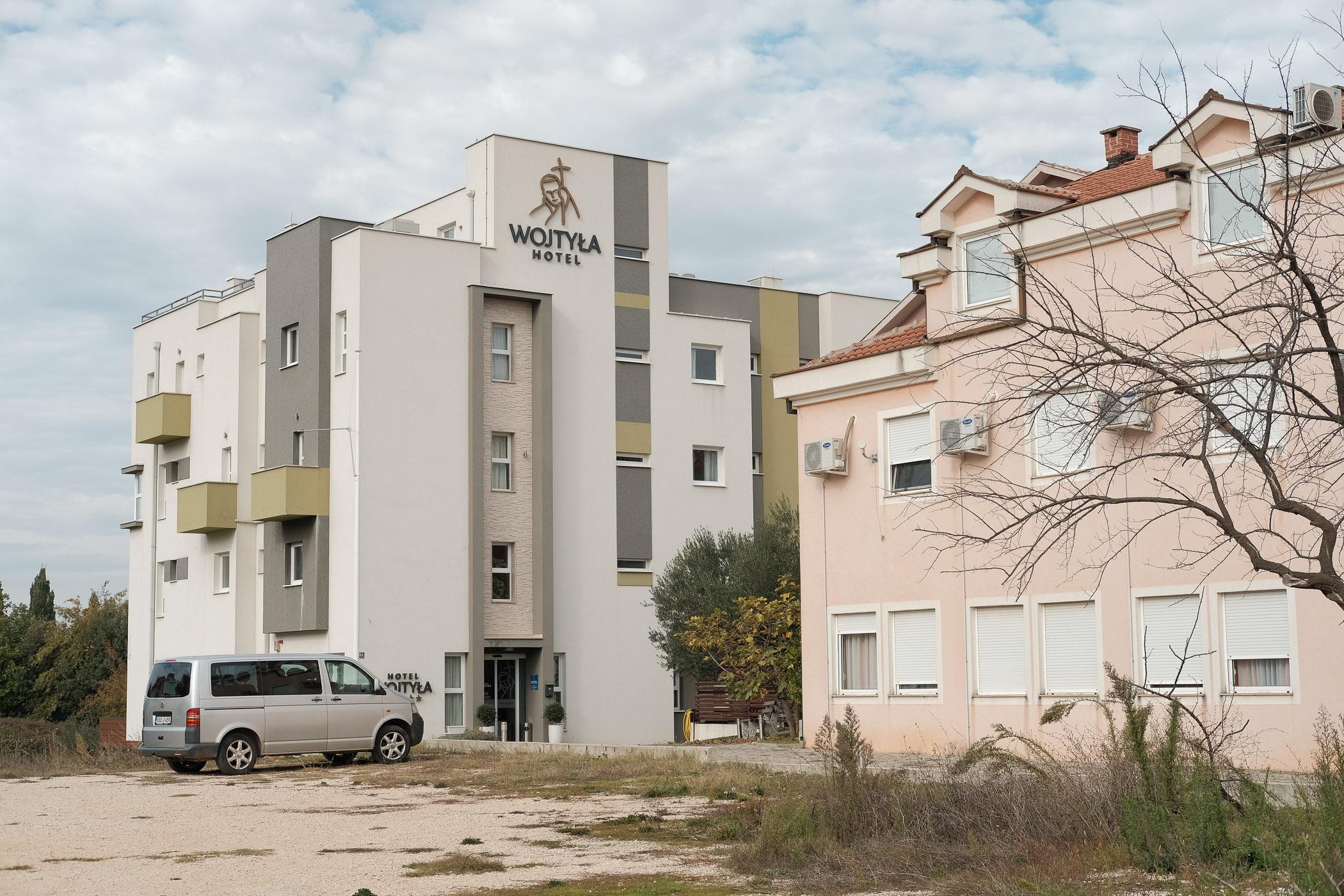 A hotel catering to Polish pilgrims, Medjugorje, Bosnia and Herzegovina.