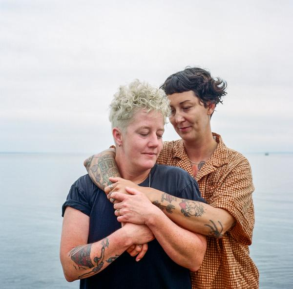 Kerry Lee Butt (right) with her partner Jennifer McFarlane in Tiny, Ontario. Copyright © Sara Hylton/National Geographic, 2021