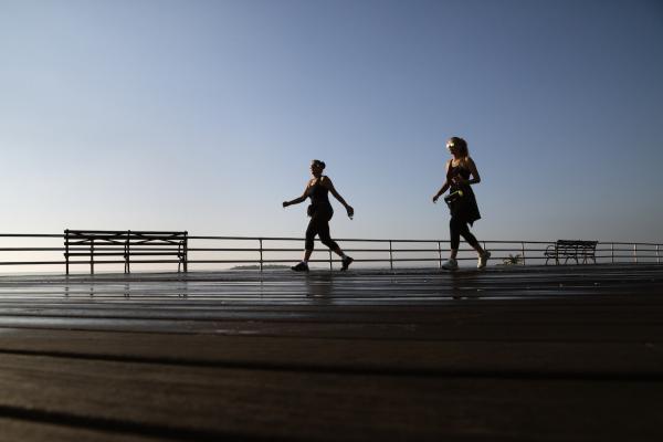 FDR Boardwalk and South Beach, Staten Island. New York City