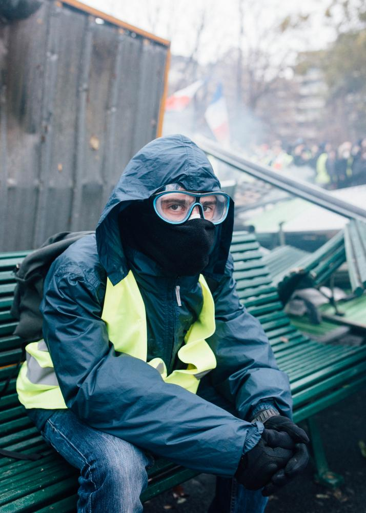 Protester, yellow vest protests, Paris - Image Series