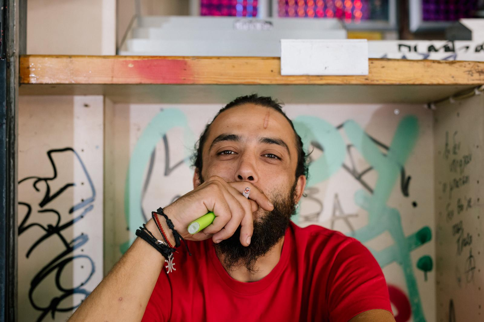 Ahrend (Name changed), lives in the streets of Athens ( Exarchia under attack )