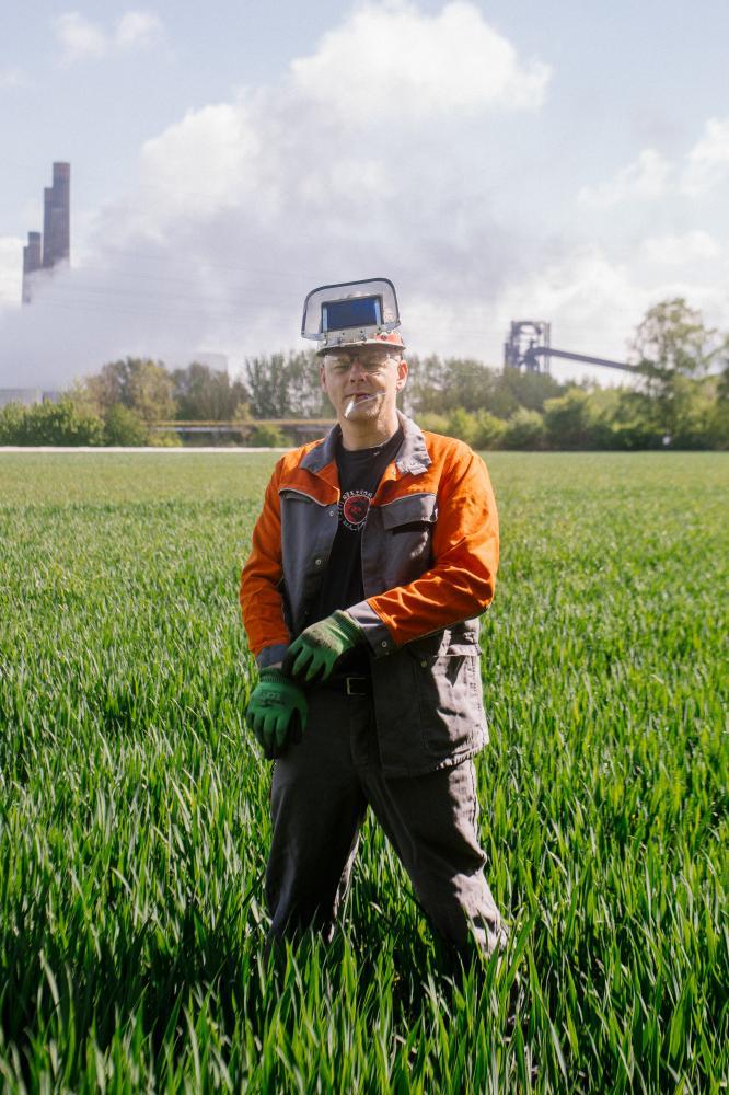 Kai Bonnecke, steel worker, Salzgitter - assignment for neues deutchland