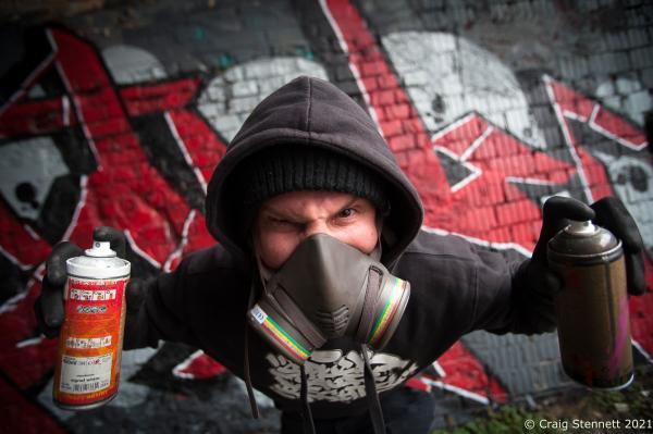 Graffiti Artist, Halle Saale, Germany