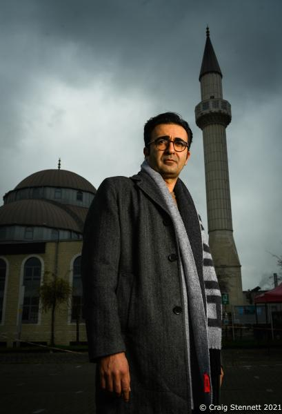Professor Rauf Ceylan is a sociologist and author. He is professor of sociology of religion and sociology of migration at the University of Osnabrück. Photographed outside DITIB-Merkez-Moschee in Duisburg,  Photographed for The Daily Telegraph (UK)