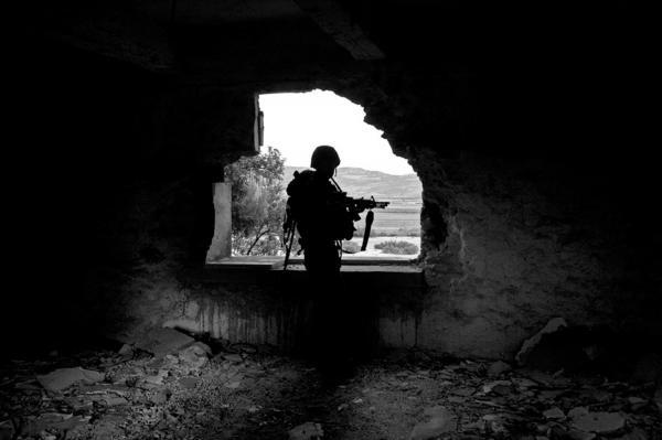 During a day patrol near Hermesh settlemnt. near Jenin.
