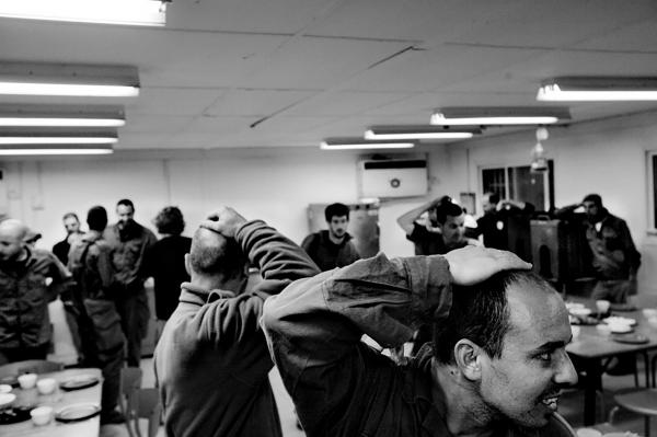 Friday night at the base in the West Bank during a month of duty. near Jenin.