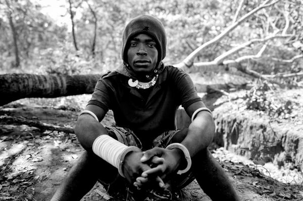 A Sokuma tribe's young adult who was caught herding and poaching illegally in the park area, before being taken by the scouts to Nalika headquarters located in Milonde village.