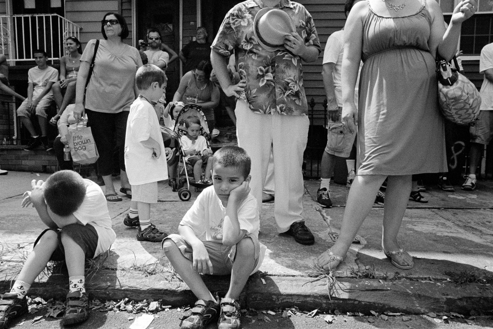 A young boy takes in the festivities.