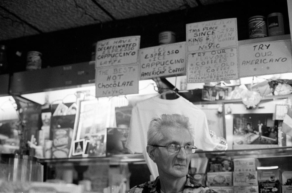 Joseph Rinaldi, the owner of Caffé Capri on Graham Avenue, at work.